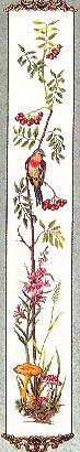 click here to view larger image of Birds and Berries Bellpull (counted cross stitch kit)