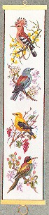 click here to view larger image of Birds Bellpull (counted cross stitch kit)