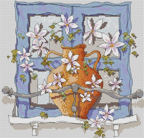 click here to view larger image of Greek Window (counted cross stitch kit)