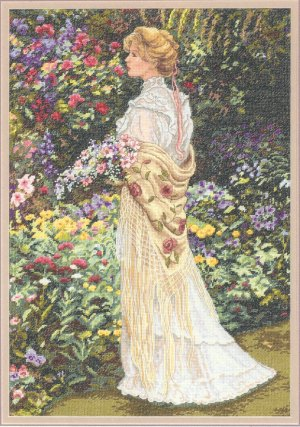 click here to view larger image of In Her Garden (counted cross stitch kit)