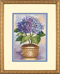 click here to view larger image of Hydrangea in Bloom (counted cross stitch kit)