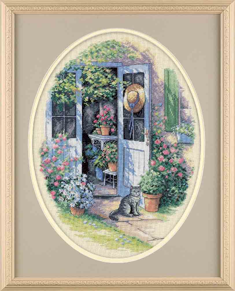 click here to view larger image of Garden Door (counted cross stitch kit)