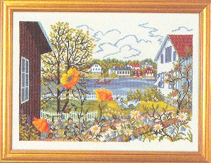 click here to view larger image of Lakeside House (counted cross stitch kit)