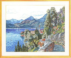 click here to view larger image of Mountain Village (counted cross stitch kit)