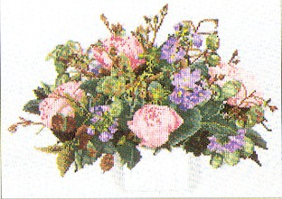 click here to view larger image of Roses  Bouquet - Aida (counted cross stitch kit)