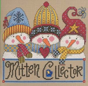 click here to view larger image of Mitten Collector - Kit (counted cross stitch kit)
