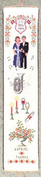 click here to view larger image of Anniversary Bellpull (counted cross stitch kit)