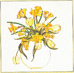 click here to view larger image of Daffodil Bouquet (counted cross stitch kit)