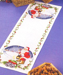 click here to view larger image of Santa Tablerunner (counted cross stitch kit)
