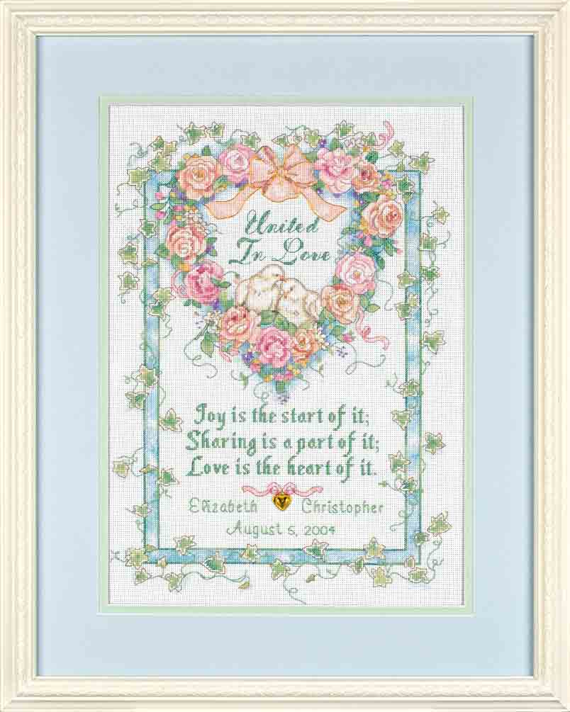 click here to view larger image of United In Love (counted cross stitch kit)