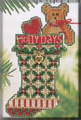 click here to view larger image of Holly Days Stocking (counted cross stitch kit)