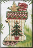 click here to view larger image of Evergreen Stocking (counted cross stitch kit)