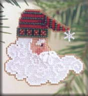 click here to view larger image of Twinkle Claus (counted cross stitch kit)