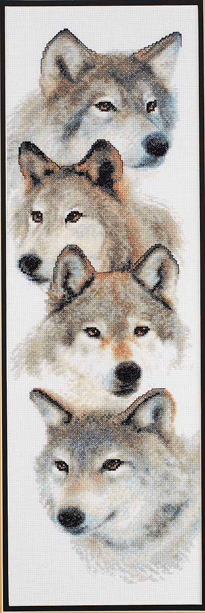 click here to view larger image of Pack, The (counted cross stitch kit)