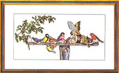 click here to view larger image of Birds At The Feeder (counted cross stitch kit)