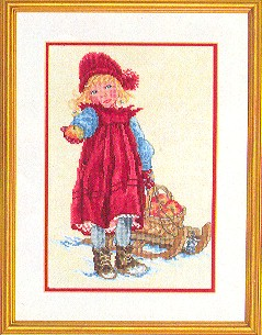 click here to view larger image of Girl With Sled (counted cross stitch kit)