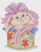 click here to view larger image of Bunny Gift  (counted cross stitch kit)