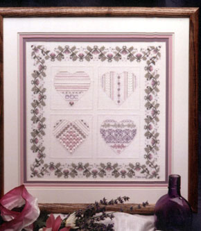 click here to view larger image of Winter Hearts (counted cross stitch kit)