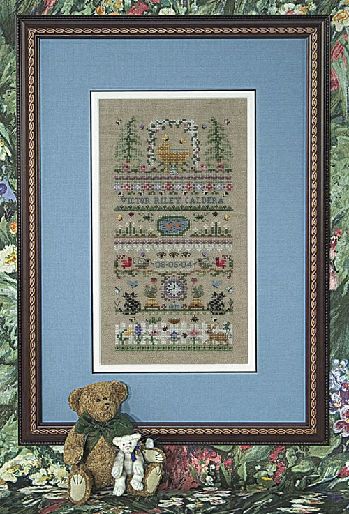 click here to view larger image of Baby Garden (chart with charms/buttons)
