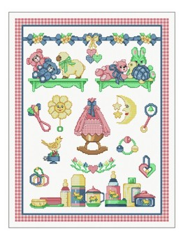 click here to view larger image of Sampler - Baby (chart)
