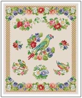 click here to view larger image of Sampler - Parrot (chart)