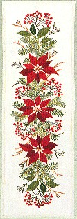 click here to view larger image of Poinsettia Tabletopper (counted cross stitch kit)