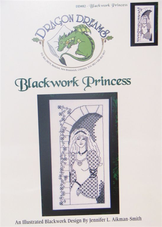 click here to view larger image of Blackwork Princess (chart)