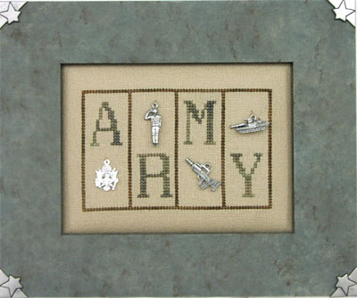 click here to view larger image of Army - Mini Blocks (chart with charms/buttons)