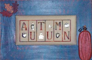 click here to view larger image of Autumn - Mini Block (chart with charms/buttons)