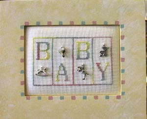 click here to view larger image of Baby - Mini Block (chart with charms/buttons)