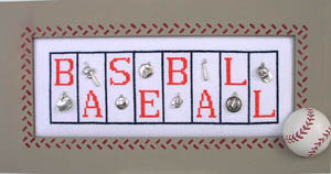 click here to view larger image of Baseball - Mini Blocks (chart with charms/buttons)