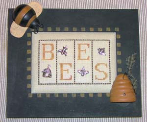 click here to view larger image of Bees - Mini Blocks (chart with charms/buttons)