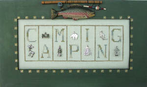 click here to view larger image of Camping - Mini Blocks (chart with charms/buttons)