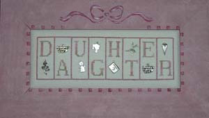 click here to view larger image of Daughter - Mini Blocks (chart with charms/buttons)