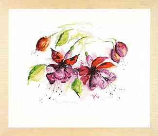 click here to view larger image of Fuchsia (counted cross stitch kit)