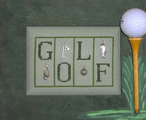 click here to view larger image of Golf - Mini Blocks (chart with charms/buttons)