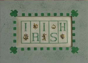 click here to view larger image of Irish - Mini Blocks (chart with charms/buttons)