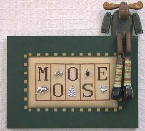 click here to view larger image of Moose - Mini Blocks (chart with charms/buttons)