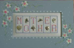 click here to view larger image of Mother - Mini Blocks (chart with charms/buttons)