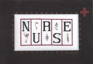 click here to view larger image of Nurse - Mini Blocks (chart with charms/buttons)