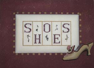 click here to view larger image of Shoes - Mini Blocks (chart with charms/buttons)