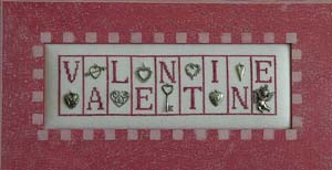 click here to view larger image of Valentine - Mini Blocks (chart with charms/buttons)