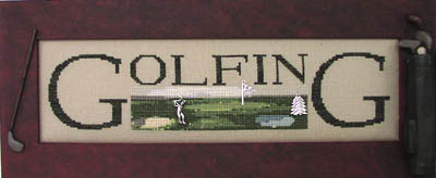 click here to view larger image of Golfing - Charmed Sampler (chart with charms/buttons)