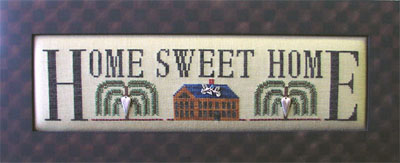 click here to view larger image of Home Sweet Home - Charmed Sampler (chart with charms/buttons)