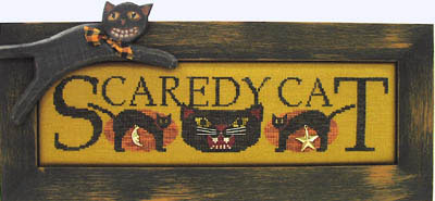 click here to view larger image of Scaredy Cat - Charmed Sampler (chart with charms/buttons)