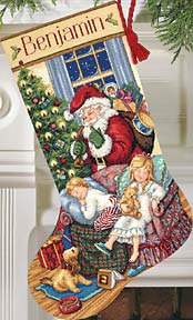 click here to view larger image of Sweet Dreams Stocking (counted cross stitch kit)