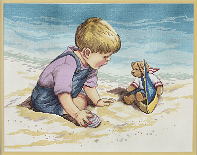click here to view larger image of Seashore Fun (counted cross stitch kit)
