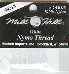 click here to view larger image of Nymo Thread - White (9 yards) (fiber)