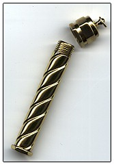 click here to view larger image of Spiral Brass Needle Case (accessory)