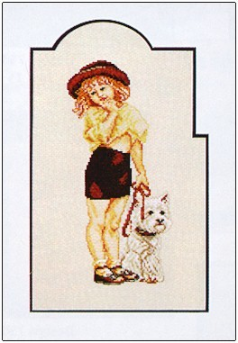 click here to view larger image of Girl With Dog (counted cross stitch kit)